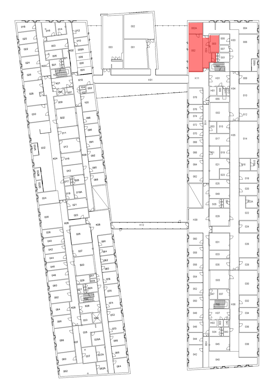 Map of Laboratory Center