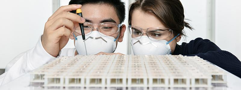 Image of man and woman as researcher