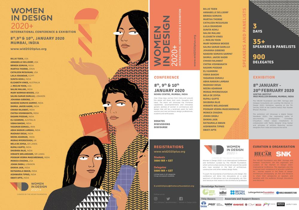 Poster for conference Woman in Design and program.