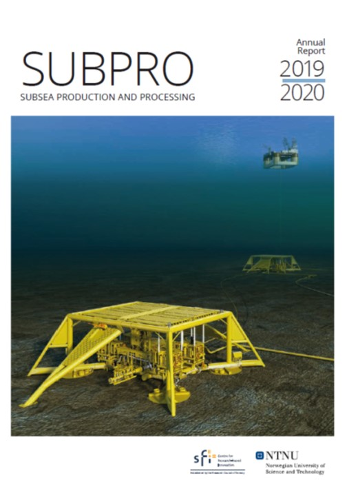 Cover of the SUBPRO annnual report 2019/2020.