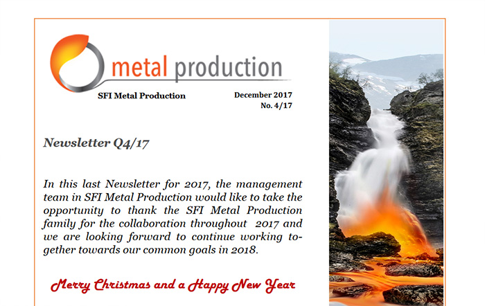 Newsletter Q4, front page. Photo