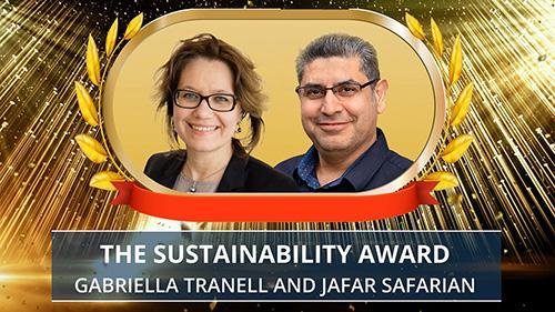 Sustainability award. Photo