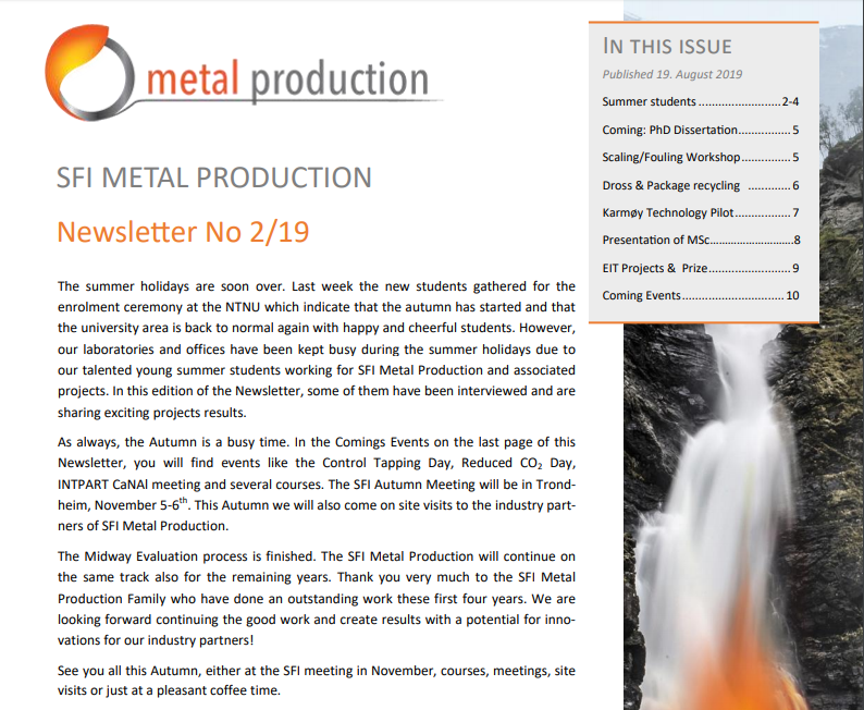 Metal Production - NTNU