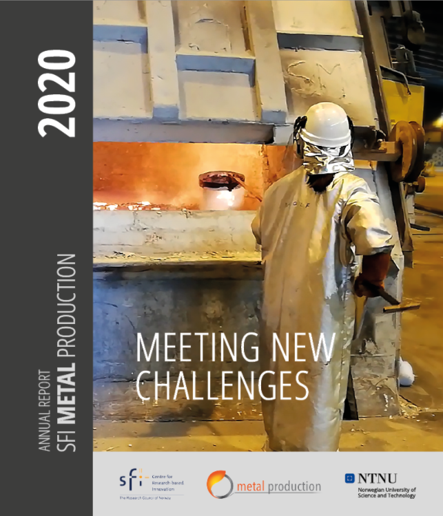 Front page annual report Metal Production. Photo