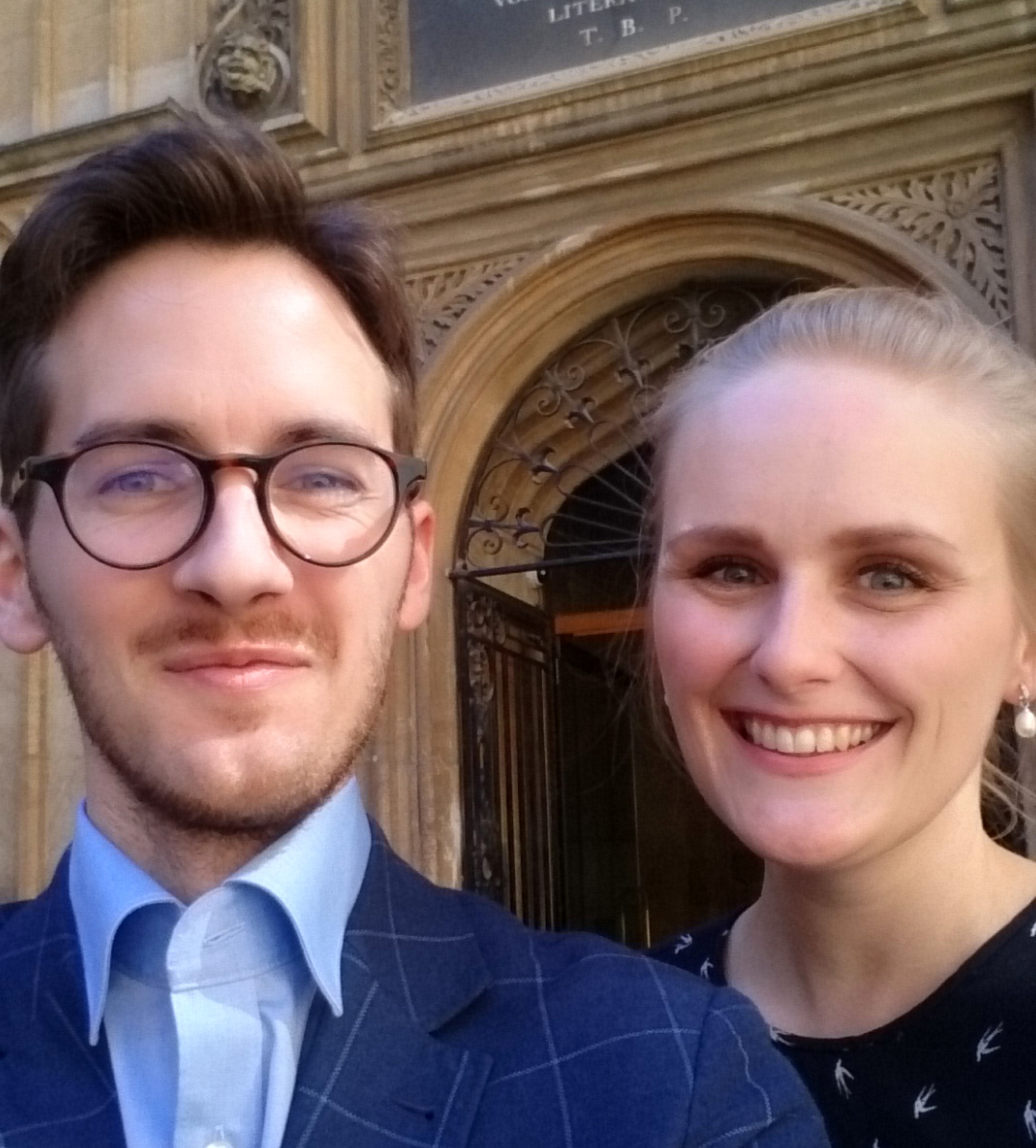PhD students Peter Astruo Sundt and Iris Brecke