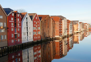 The Wharves in Trondheim. Photo.
