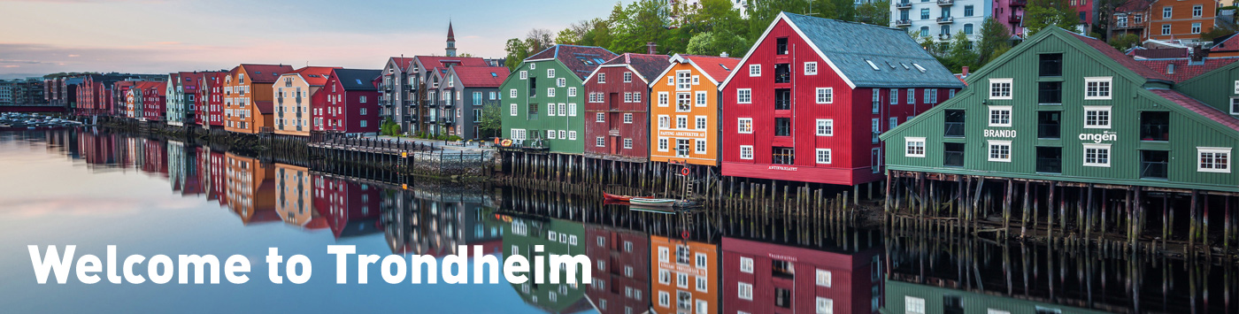 The old wharves by Nidelva in Trondheim