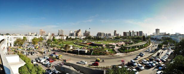 Panoramic view of Delhi. Photo.