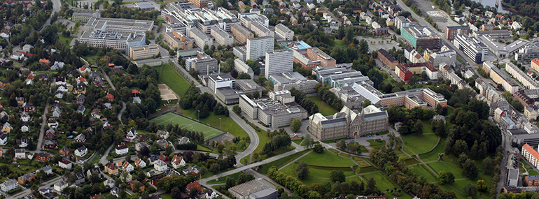 Gløshaugen Campus aerial photo