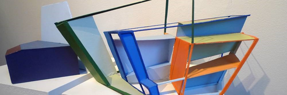 Architectural model, geometric shapes