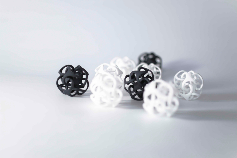 Picture of 3D printed plastic objects
