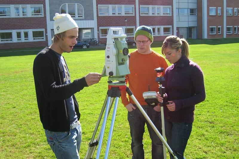Picture of students with equipment for survey