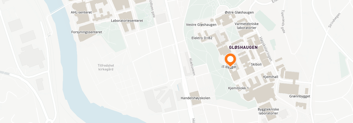 Map of Gløshaugen, AI-lab, Illustration