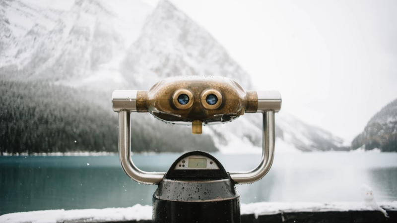 Photo of binoculars illustrating job seeking