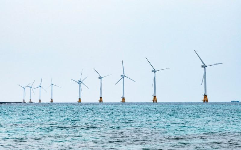 Offshore wind turbines. Photo