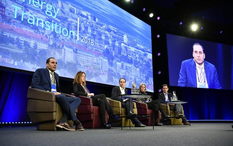 Speakers on stage at Energy Transition Conference 2018. Photo