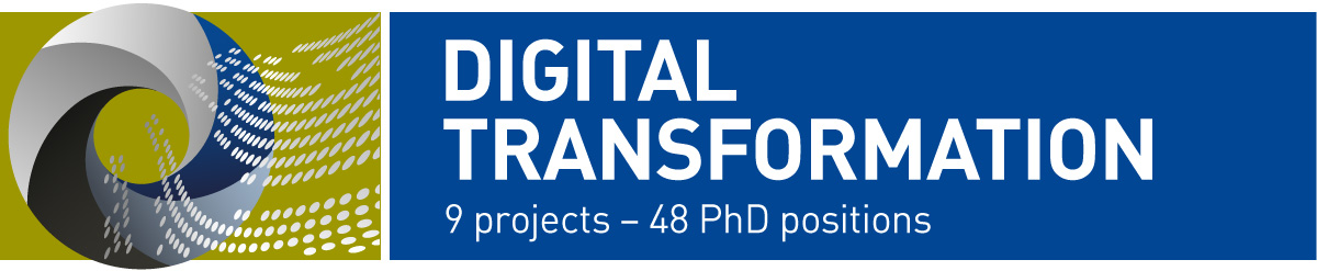 Graphic design for NTNU's initiative Digital Transformation