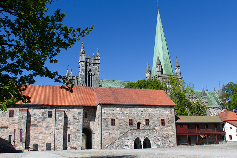The Archbishop's Palace with the Nidaros Cathedral in the background