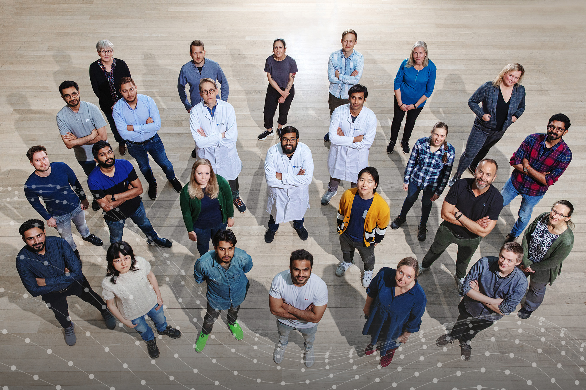 Associate Professor Sulalit Bandyopadhyay and his corona test team at the Department of Chemical Engineering, NTNU. Photo.