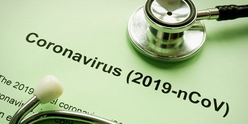Leads to web page about the coronavirus