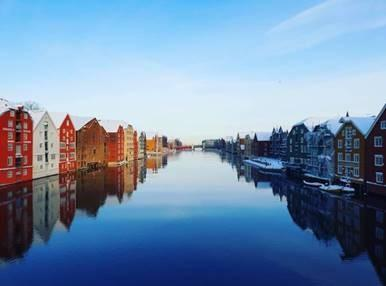 Picture of the old wharves in Trondheim