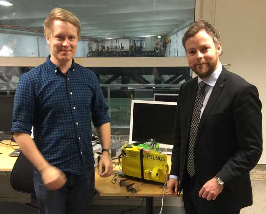 Norwegian Minister visits the MC-lab