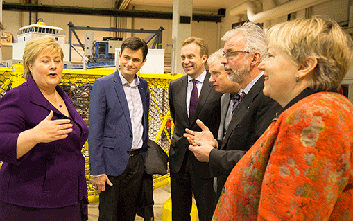 Erna Solberg visits the MTC