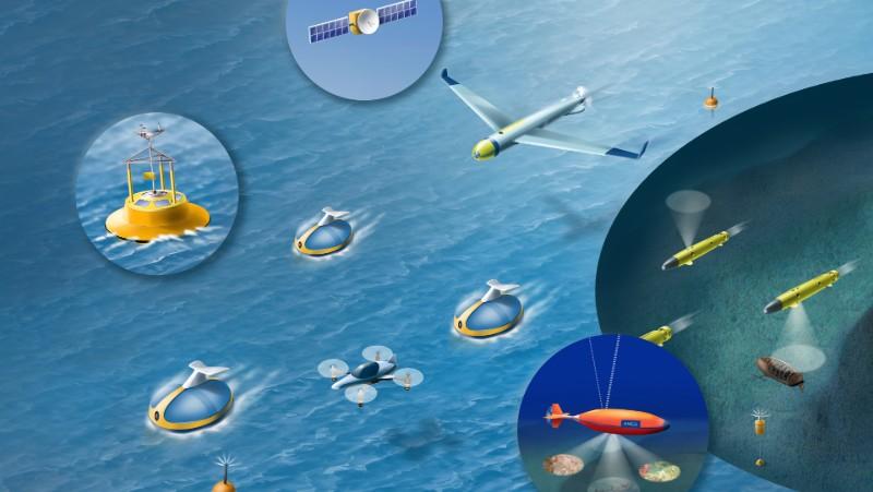 Autonome droner og skip
