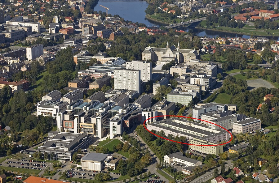 NTNU Gløshaugen from above