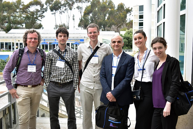 Daniel Cantero (left) and other attendees at the 7th EVACES conference at the University of California, San Diego. Photo by NTNU/Daniel Cantero.
