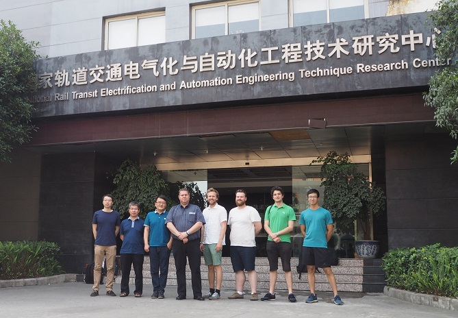 Group photo at the Southwest Jiaotong University. Photo by NTNU/Gunnstein Frøseth.