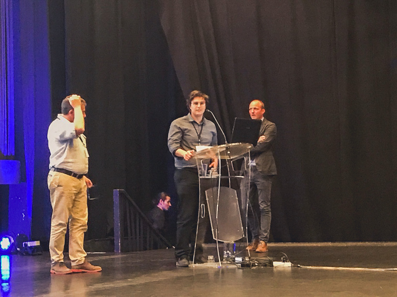 Aksel Fenerci giving a speech after getting the award. Photo by NTNU/Ole Øiseth.