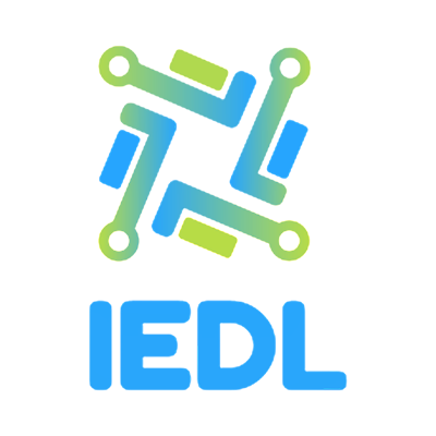 Logo for IEDL. Graphics.