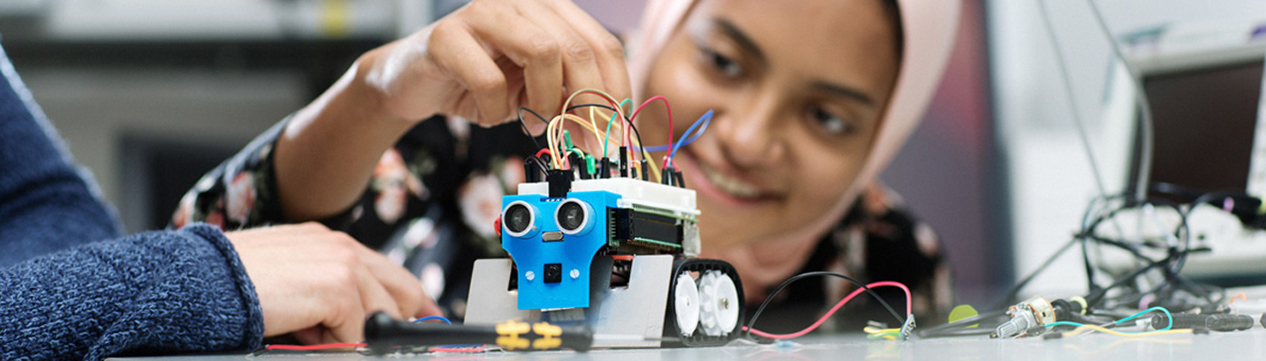 Building an Arduino robot. Photo