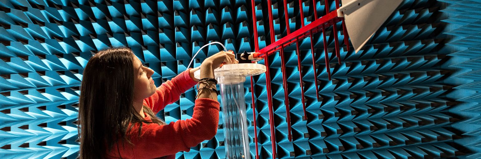 Anechoic chamber (image). -Photo: Geir Mogen