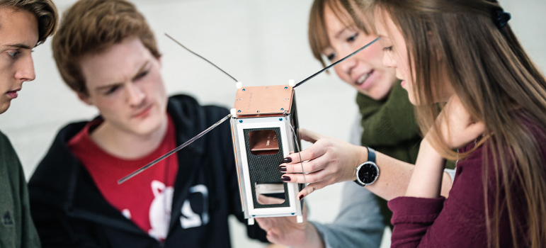 Student satellite (image) -Photo Geir Mogen