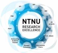 NTNU Research Excellence logo.