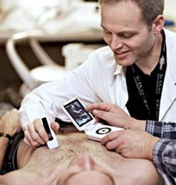 Easy-to-use handheld ultrasound technology could lead to significant innovation and changed practices in the health care sector.