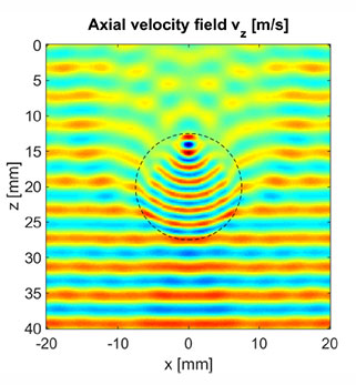 Figure 1a. Detected velocity field.