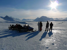 During the course, you get to experience the spectacular landscapes at Svalbard.