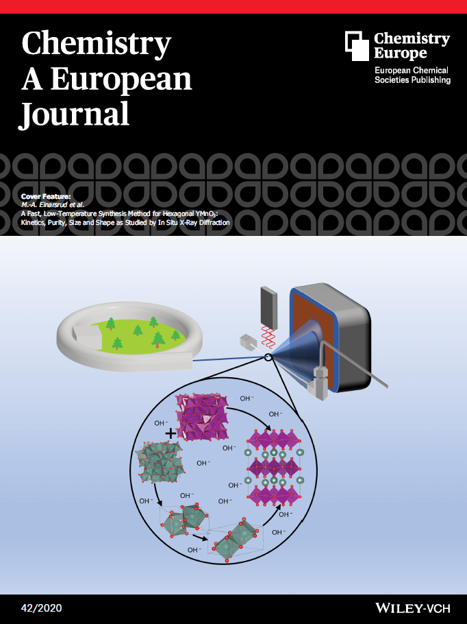 Photo. Cover illustration from Chemistry A European Journal.