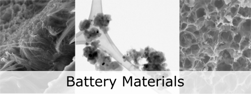 Picture of battery materials.