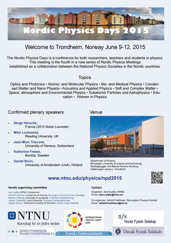 Nordic Physics Days 2015 poster (photo)