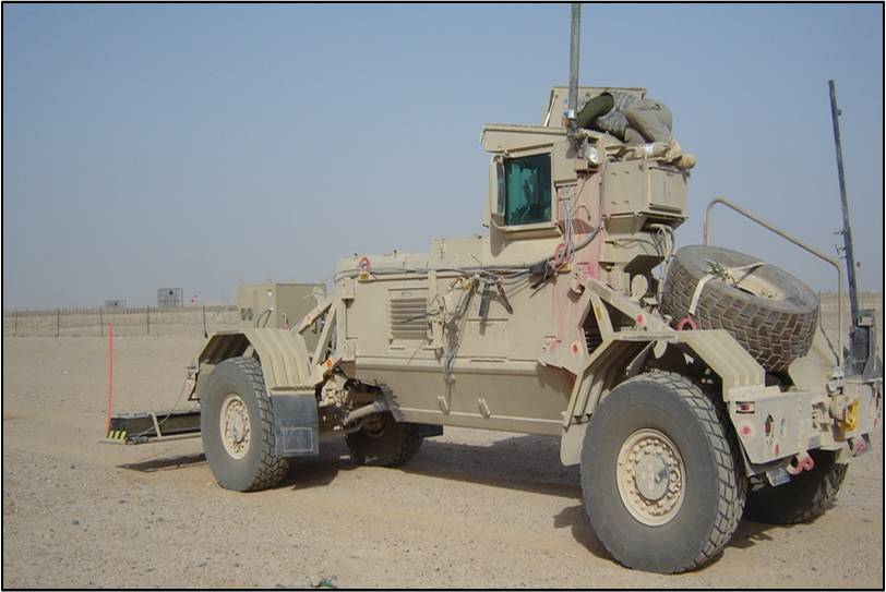3d Radar mounted on a military vehicle in Afghanistan