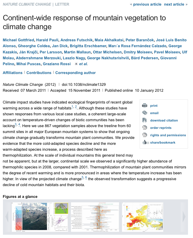 Nature Climate Change article