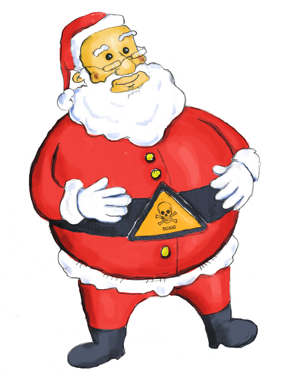Is Santa Claus toxic? Illustration by Mads Nordtvedt, NTNU Info