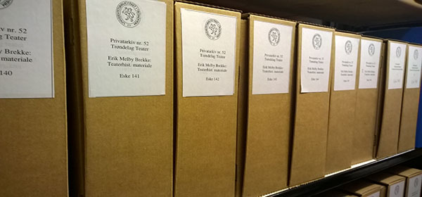 Historical archives from Trøndelag Theatre