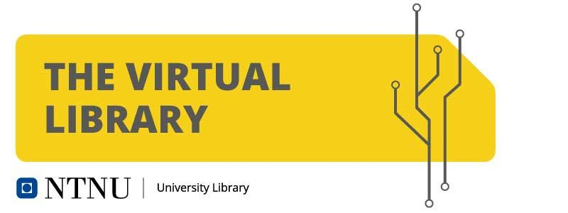 "Graphic element with the text ""The virtual library"""