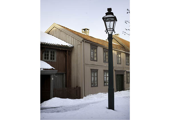 Reconstructed gas light at the Museum of Sverresborg, Trondheim