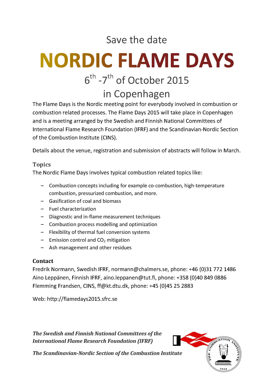 Nordic Flame Days 2015 Ntnu